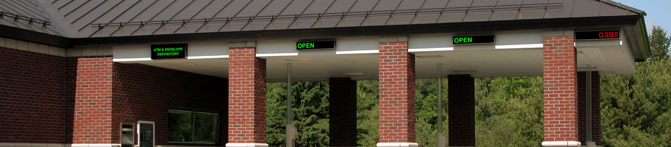Outdoor LED Bank Drive Thru Signs