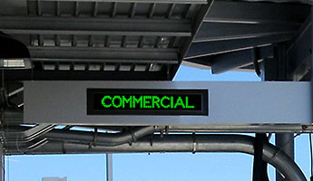 Outdoor LED Signage for Specialty and Multi-use Bank Drive-Thru Lanes