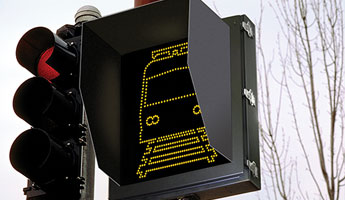 LED Light Rail Train Crossing Signals and Pedestrian Warning Signs