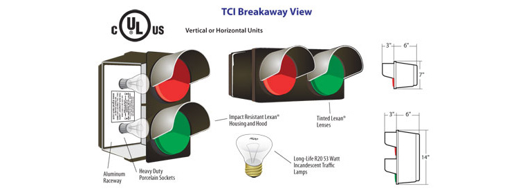 breakway view of incandescent Stop Go Signal