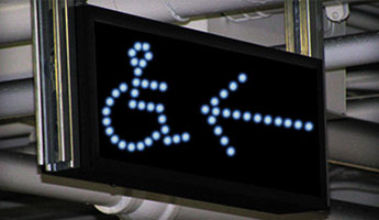 Handicap Accessible and Pedestrian Crossing LED Signs