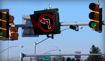 LED Lane Control Signs