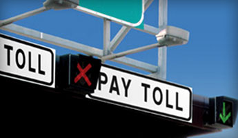 LED Signs for Bridge & Tunnel Lanes and Toll Booth Traffic Control