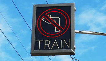 LED Blankout Signals for Railroad Grade Crossing Safety