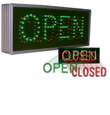 LED Drive-thru Lane Lights - Open/Closed [5887]