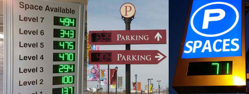 Our Space Available Signs and LED counters are compatible with many 3rd party parking management systems