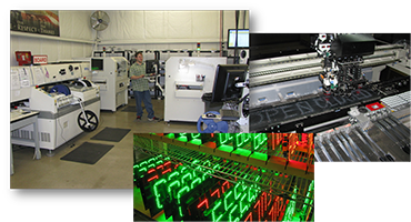 Precision manufacturing with LED surface mount technology