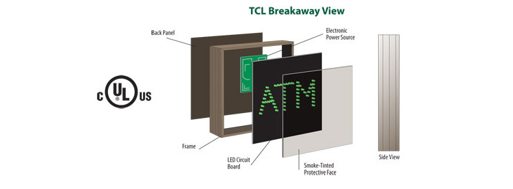 breakway view of direct view LED sign