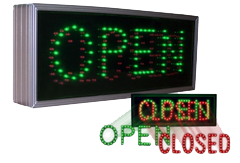 Signal-Tech Open-Closed Signage