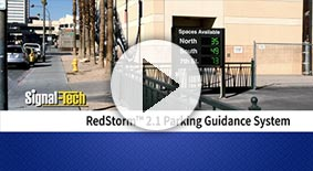 Watch an overview of the RedStorm Parking Guidance System