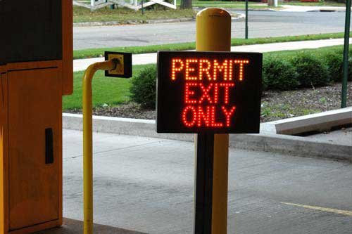 Permit Exit Only Sign at St. Vincents  Health System, Erie, PA