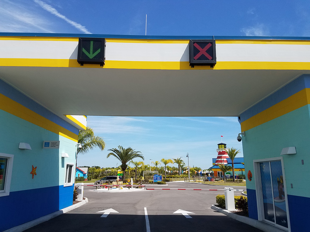 Entrance gate at Legoland Beach Retreat, Winter Haven, FL