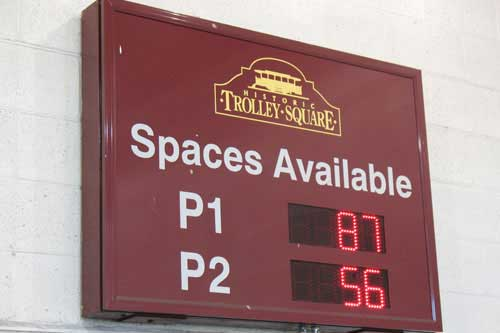 Trolley Square Salt Lake City, UT- Space Available Sign