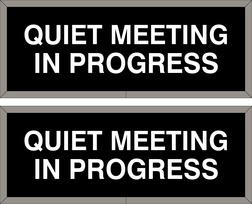 meeting in progress signs