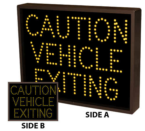 CAUTION VEHICLE EXITING | CAUTION VEHICLE EXITING