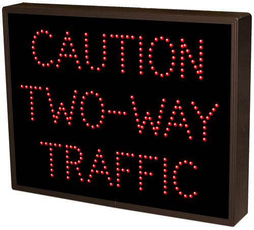 CAUTION TWO-WAY TRAFFIC