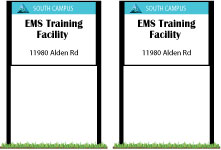 30 SOUTH CAMPUS LOGO EMS Training Facility 11980 Alden Rd
