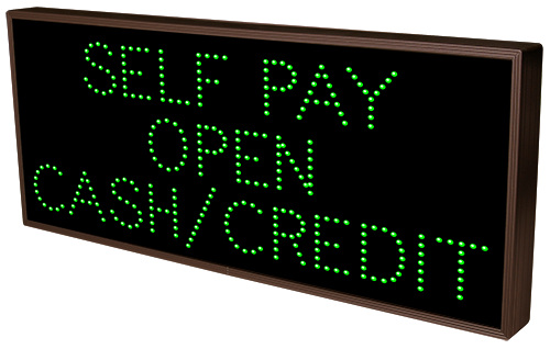 SELF PAY OPEN CASH/CREDIT