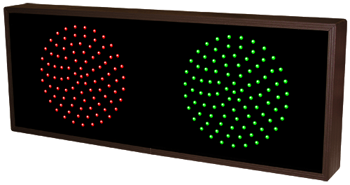 "Indicator Dots, horizontal, double 7.5"" dot, red, green"