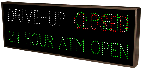 DRIVE-UP | OPEN | CLOSED | 24 HOUR ATM OPEN