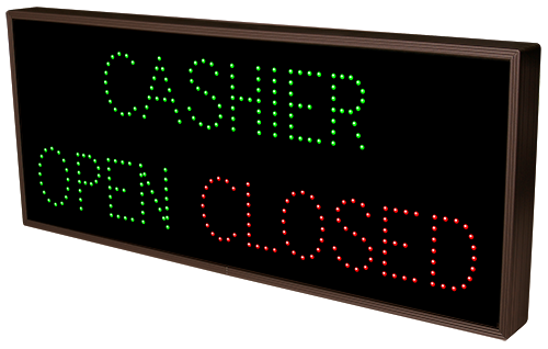 CASHIER | OPEN | CLOSED
