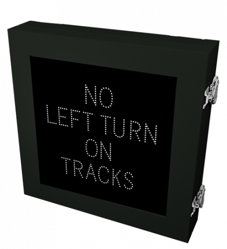 R3-2a NO LEFT TURN ON TRACKS