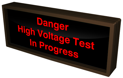 Danger High Voltage Test In Progress