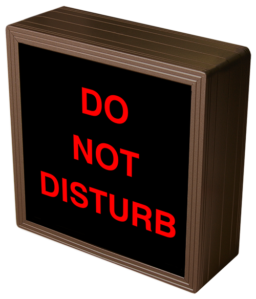 38689 Sbl77r A810 Do Not Disturb Led Signs Interior