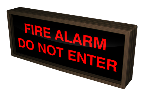 38693 Sbl718r A712 Fire Alarm Do Not Enter Led Signs