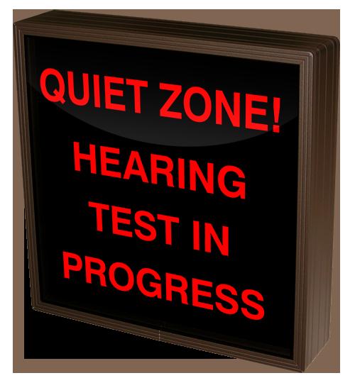 testing in progress sign