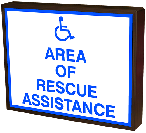 AREA OF RESCUE ASSISTANCE w/Handicap Symbol