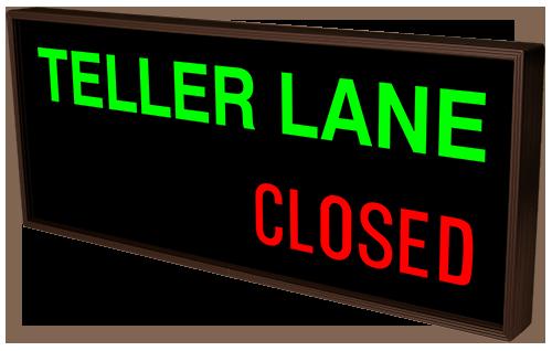 38985 Phx1434ggr B715 Teller Lane Open Closed Led