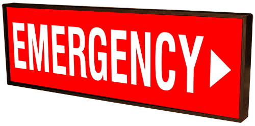 EMERGENCY w/Right Arrow