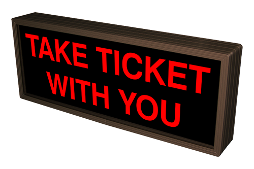 Signal-Tech 39375 PHX718R-A201/120-277VAC TAKE TICKET WITH YOU (120-277 VAC)