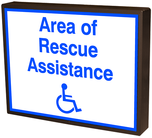 Area of Rescue Assistance w/Symbol