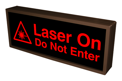 Laser On Do Not Enter w/ Laser Symbol (12-24VDC)