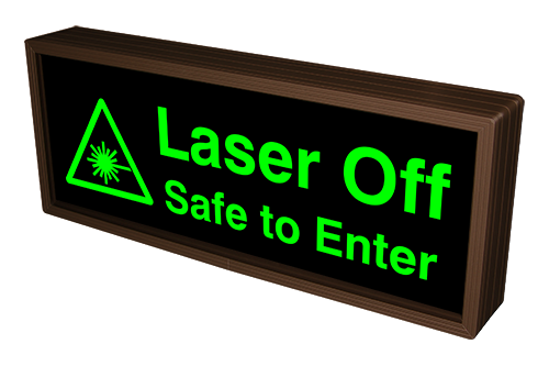 Laser Off Safe to Enter w/ Symbol (12-24VDC)