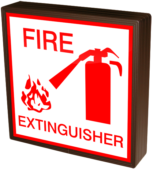 41264 Sblf1212w C896r Fire Extinguisher Wsymbol Led Signs