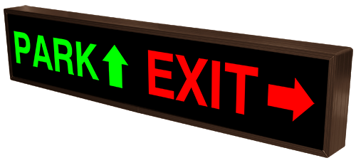 PARK w/ Up Arrow | EXIT w/ Right Arrow