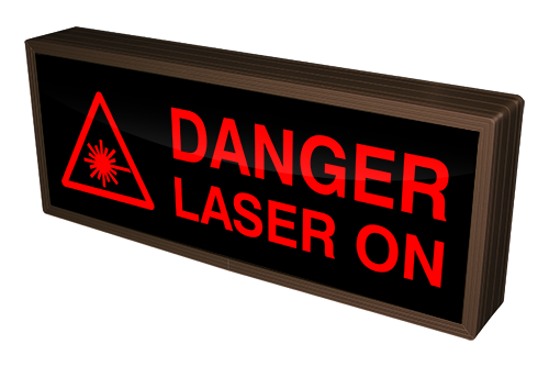 DANGER LASER ON w/ Laser Symbol (12-24VDC)