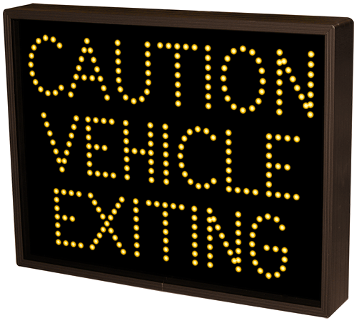 5062 Tcl1418a A172 Caution Vehicle Exiting Led Signs