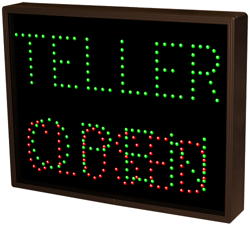 5103 Tcl1418ggr 248 Teller Open Closed Led Signs