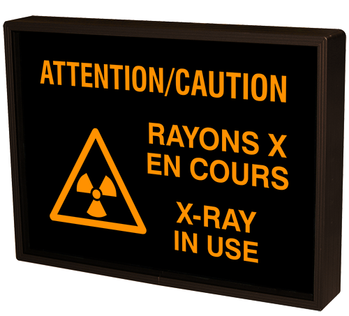 Signal-Tech 55284 SBL811A-K089/12-24VDC ATTENTION/CAUTION RAYONS X EN COURS X-RAY IN USE w/Caution Symbol (12-24VDC)