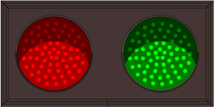30 Red Indicator Dot w/ Hood | Green Indicator Dot w/ Hood