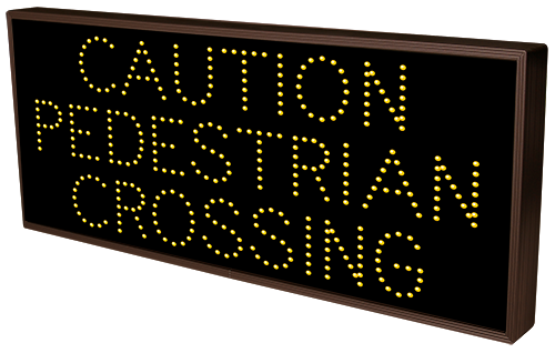 CAUTION PEDESTRIAN CROSSING